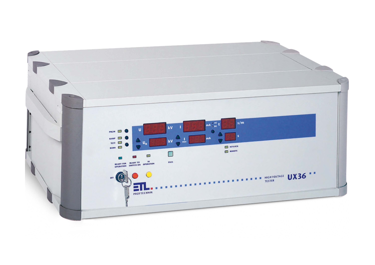 UX36-DC-10-0010-TPT   [10kV DC / 50 mA 500 VA with dry transformer] Hipot Testing (Flash Tester)